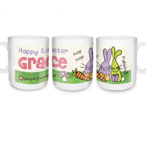 Personalised Bang on the Door Rabbit Mug